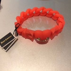 Juicy Couture neon orange rubber bracelet